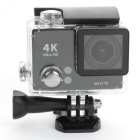 "2.0"" 30M Waterproof H.264 Wi-Fi Ultra 4K Action Camera w/ 2.4GHz Remote Controller - Black"