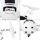 Hubsan FPV X4 Plus H107D+ 720P Camera 2.4G 4CH RC Quadcopter RTF - White + Black