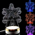 Color Change LED Ferris Wheel Creative 3D Optical illusion Pattern Atmosphere Table Lamp - Star