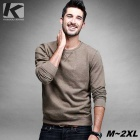 KUEGOU FW-6065 Men's Plain Pullover Sweater T-Shirt - Khaki (XXL)