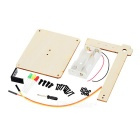 DIY Assembly Diode Traffic Lights Experiment Kit Educational Toy - Wood Color + Black (2*AA)