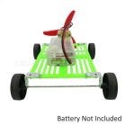 Ensamblador Wind Powered Car Kit DIY juguetes educativos - Verde + Multi-Color (2 * AA)
