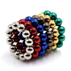 5mm 72PCS Magnetic Balls DIY Puzzle Toy - Multi-Colored