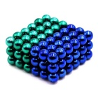 DIY 5mm Round Puzzle Magnetic Ball Toys - Green + Blue (108PCS)