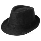 Trendy Cotton Fedora Hat/Cap (Black)