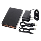 N99 8000mAh Lithium Battery Power Bank - Black + Orange