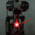 Ctsmart IPX3 impermeable 3-Mode luz roja LED de advertencia de seguridad bici luz de la cola - rojo (2 * CR2032)