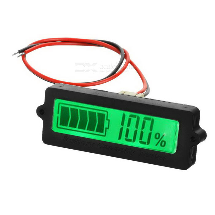 Internal Lithium Battery / Lead-acid Battery Residual Capacity Display Module w/ 1.7 Screen - BlackVoltmeter or Thermometers or Hygrometers<br>Form  ColorBlackModelN/AQuantity1 DX.PCM.Model.AttributeModel.UnitMaterialABSFunctionOthers,Residual battery capacity displayScreen Size1.7 DX.PCM.Model.AttributeModel.UnitDisplay ColorBlackTemperature RangeN/A DX.PCM.Model.AttributeModel.UnitPower Supply8~48VCable Length20 DX.PCM.Model.AttributeModel.UnitPacking List1 x Residual battery capacity display module1 x Power cable (20cm)2 x Screws<br>