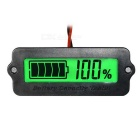 "External Lithium Battery / Lead-acid Battery Residual Capacity Display Module w/ 1.7"" Screen - Black"