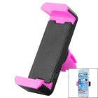 Adjustable Car Vehicle Air Conditioner Outlet Mount Holder Bracket for Cellphone - Black + Pink
