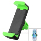 Adjustable Car Vehicle Air Conditioner Outlet Mount Holder Bracket for Cellphone - Black + Green