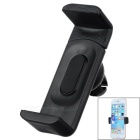 360' Rotatable Adjustable Car Air Conditioner Outlet Mount Holder Bracket for Cellphone - Black