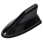 Plastic Shark Fin Design Adhesive Base Roof Decorative Antenna - Black grey
