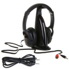5-in-1 HiFi Headphone Earphone FM Radio Monitor for MP3 PC TV - Black