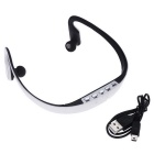 Bluetooth Sport Stereo Ear-hook Earphone Back Headphone -Black + White