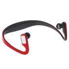 Bluetooth Sport Stereo Ear-hook Earphone Back Headphone -Black + Red