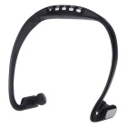 Universal Wireless Bluetooth 3.0 Sport Stereo Earphone Back Headphone Headset - Black
