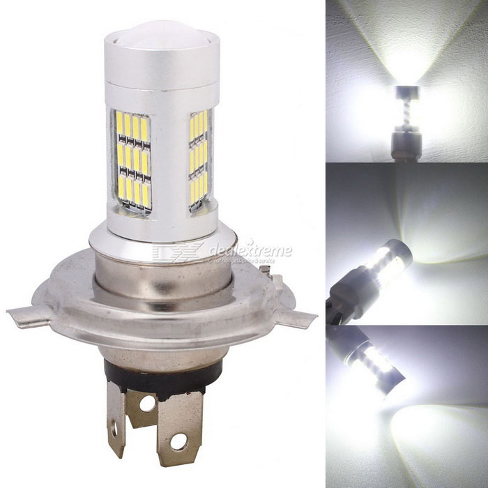 MZ H4 P43T 8W Car LED Headlights / Daytime Ruinning Light / Driving Lamp White 42-4014 SMD 420lmFog Lights<br>Color Temperature6500K - H4ModelN/AQuantity1 DX.PCM.Model.AttributeModel.UnitMaterialPCBForm ColorSilverCompatible Car ModelUniversalRate Voltage12Power8WColor BINWhiteTheoretical Lumens480 DX.PCM.Model.AttributeModel.UnitActual Lumens420 DX.PCM.Model.AttributeModel.UnitConnector TypeH4Emitter TypeLEDChip BrandOthers,N/AChip Type4014 SMD LEDTotal EmittersOthers,42Color Temperature6500 DX.PCM.Model.AttributeModel.UnitWaterproof FunctionNoApplicationHeadlamp,Foglight,Daytime running lightPacking List1 x LED Light<br>