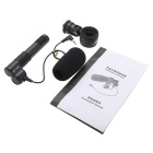 3.5mm Mini Professional Stereo Pickup Microphone for Household DV / Camcorder - Black