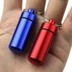 Waterproof Aluminum Alloy Portable Small Kit Seal Cartridge First Aid Pill Bottles - Red (2PCS)