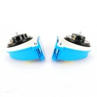 DIY Car Yacht Motocycle 12V Snail Shape High & Low Frequency Horn Speaker Siren - Blue (Pair)