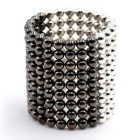 3mm 216PCS Magnetic Balls Educational Toy - Silver + Silver Black