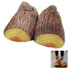 Creative Home Indoor Lämmin Stump Style Cotton Slippers - Wood Color (Pair)
