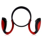Wireless Stereo In-ear Sport Bluetooth 4.1 Music Headphone w/ Mic, Hands-free - Black + Red
