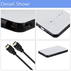 2-в-1 Android 4.4.2 DLP LED проектор + Smart TV Box XBMC ж / 1G RAM / 8GB ROM-белый + черный