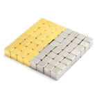 5mm 64PCS Cubes Magnets Toy - Golden + Silver