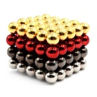 5mm Round Puzzle Magnetic Toys - Gold + Silver (100PCS)