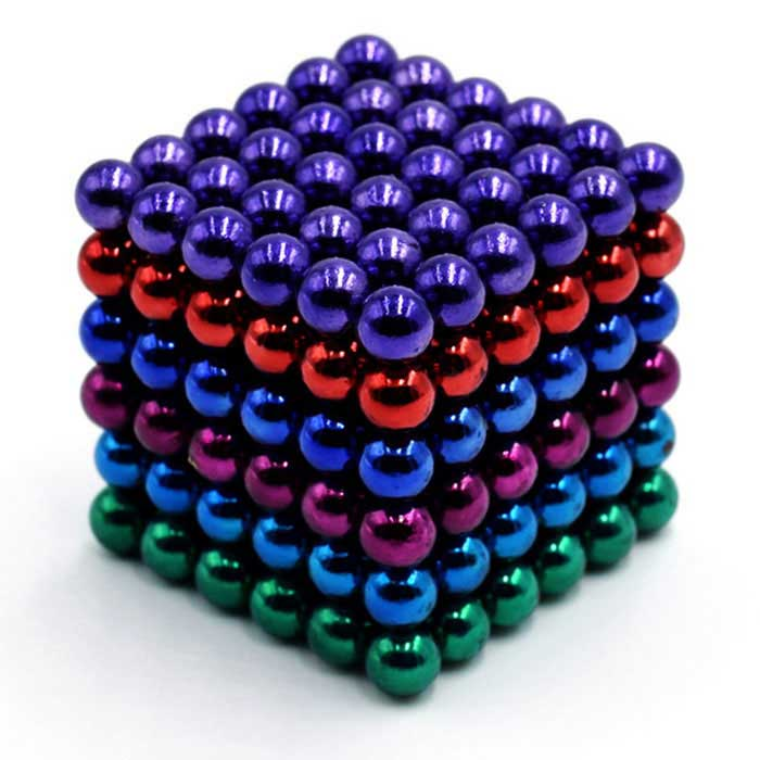 DIY 5 milímetros de Puzzle Manetic bolas coloridas Set - Multicolor (216PCS)