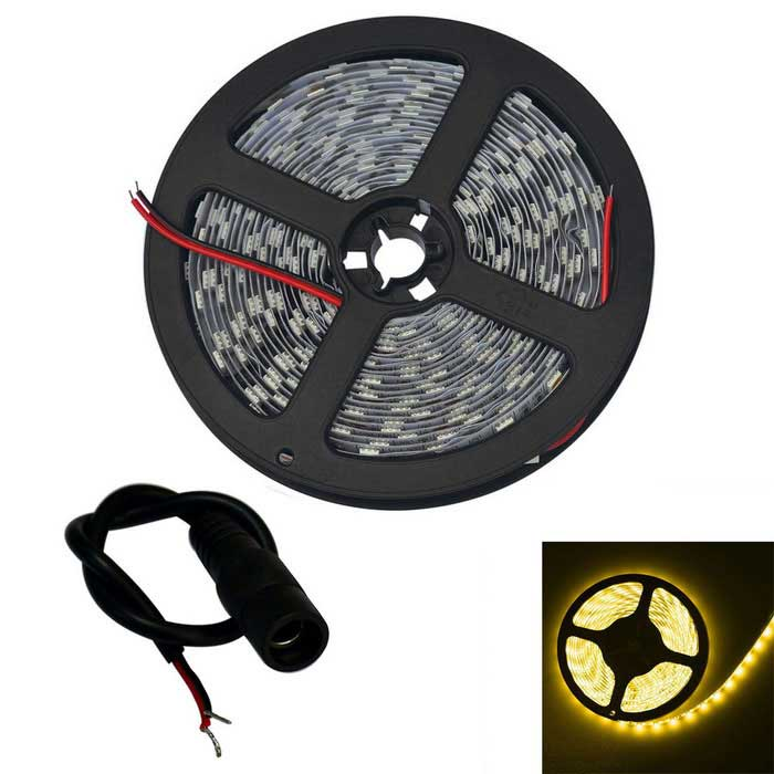64W LED Strip Lamp Warm White 3200K 5120lm 300-5050 SMD (DC12V / 5m)5050 SMD Strips<br>Form  ColorWhiteColor BINWarm WhiteMaterialCircuit boardQuantity1 DX.PCM.Model.AttributeModel.UnitPowerOthers,64WRated VoltageDC 12 DX.PCM.Model.AttributeModel.UnitEmitter Type5050 SMD LEDTotal Emitters300Color Temperature3000-3200KWavelengthN/ATheoretical Lumens5120 DX.PCM.Model.AttributeModel.UnitActual Lumens5120 DX.PCM.Model.AttributeModel.UnitPower AdapterWithout Power AdapterPacking List1 x Strip Light (500cm)1 x Electrical wiring accessories<br>