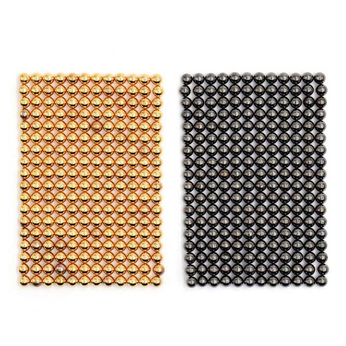 3mm 432PCS Magnetic Balls DIY Puzzle Toy - Golden + Silver BlackMagnets Gadgets<br>Form ColorGolden + Silver BlackMaterialMagnetQuantity1 SetNumber432Suitable Age 3-4 Years,5-7 Years,8-11 Years,12-15 Years,GrownupsPacking List432 x Magnets<br>