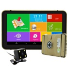 "7"" HD Android MT8127 Quad-Core Car GPS Navigator 1080P DVR w/ BT / Wi-Fi / AVIN / 8GB / RU Map"