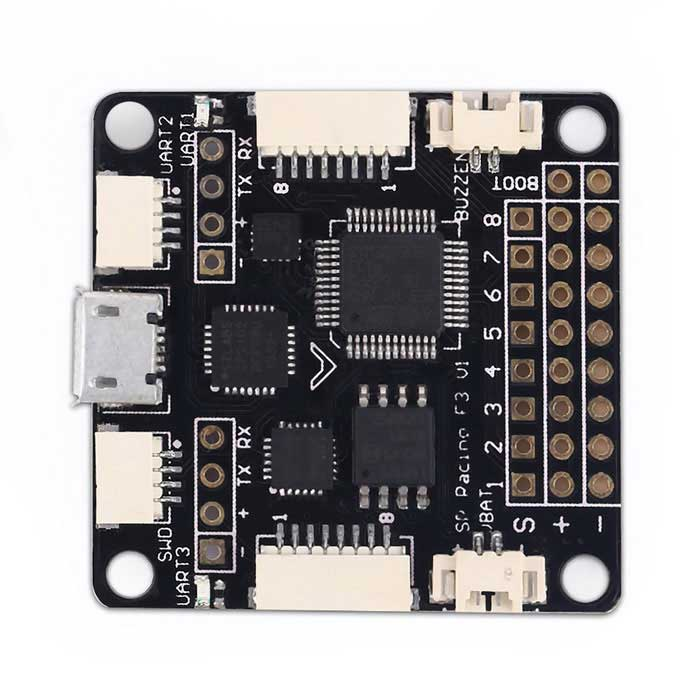 SP Pro Racing F3 letu Controller Board Deluxe for Aircraft FPV Kvadrokoptéra - Black