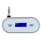 0.75'' LCD 3.5mm Plug Music Audio FM Transmitter for Cellphone and Tablets and MP3 - White and Blue - Bluetooth Devices Consumer Electronics