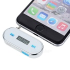 "0.75"" LCD 3.5mm Plug Music Audio FM Transmitter for Cellphone & Tablets & MP3 - White + Blue"