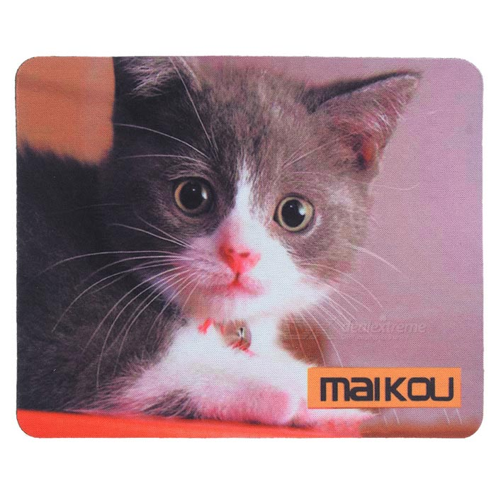 MAIKOU 21.8*18*0.2cm Lovely Cat Pattern Anti-Slip Non-Slip Mouse Pad Mat - Black + WhiteMouse Pads<br>Form ColorBlack + White + Multi-ColoredQuantity1 DX.PCM.Model.AttributeModel.UnitShade Of ColorBlackMaterialPVC + nylonOther Features21.8*18*0.2cmPacking List1 x Mouse pad<br>