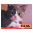 MAIKOU 21.8*18*0.2cm Lovely Cat Pattern Anti-Slip Non-Slip Mouse Pad Mat - Black + White