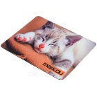 MAIKOU 21.8 * 18 * 0.2cm Lovely Cat Pattern Anti-Slip Non-Slip Mouse Pad Mat - Cinza + Branco
