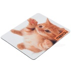 MAIKOU 21.8*18*0.2cm Lovely Cat Pattern Anti-Slip Non-Slip Mouse Pad Mat - White + Earthy Yellow
