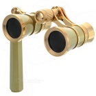 Outdoor Sports Mountaineering 3X Magnification Binocular Telescope w/ Handle - Champagne + Golden