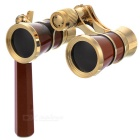Outdoor Sports Mountaineering 3X Magnification Binocular Telescope w/ Handle - Wine Red