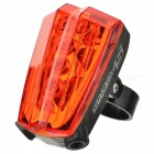 CTSmart 5-Mode 5 LED + 2 Laser Lights Outdoor Cycling Warning Light Red Light - RED + Black
