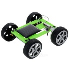 DIY Educational Assembled Solar-Powered Mini Car Vehicle Toy for Children / Kids - Green + Black