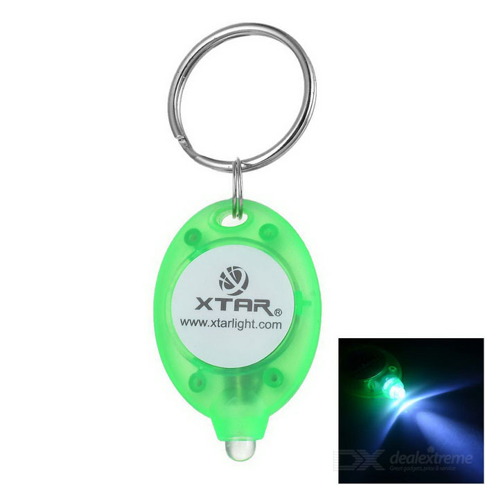 XTAR Mini Cold White Light LED Flashlight Keychain - Green (1*CR2016)