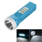 Environmental Protection 8 Side LEDs + 1 Front LED Solar Flashlight - Blue