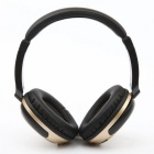 Stereo Bluetooth V4.1 Headset Sports Wireless Line-in Headband Headphone w/ Mic - Black + Golden