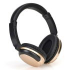 Stereo Headset 3.0 BT Sports Line-in Headphone w / Mic - Black + Ouro